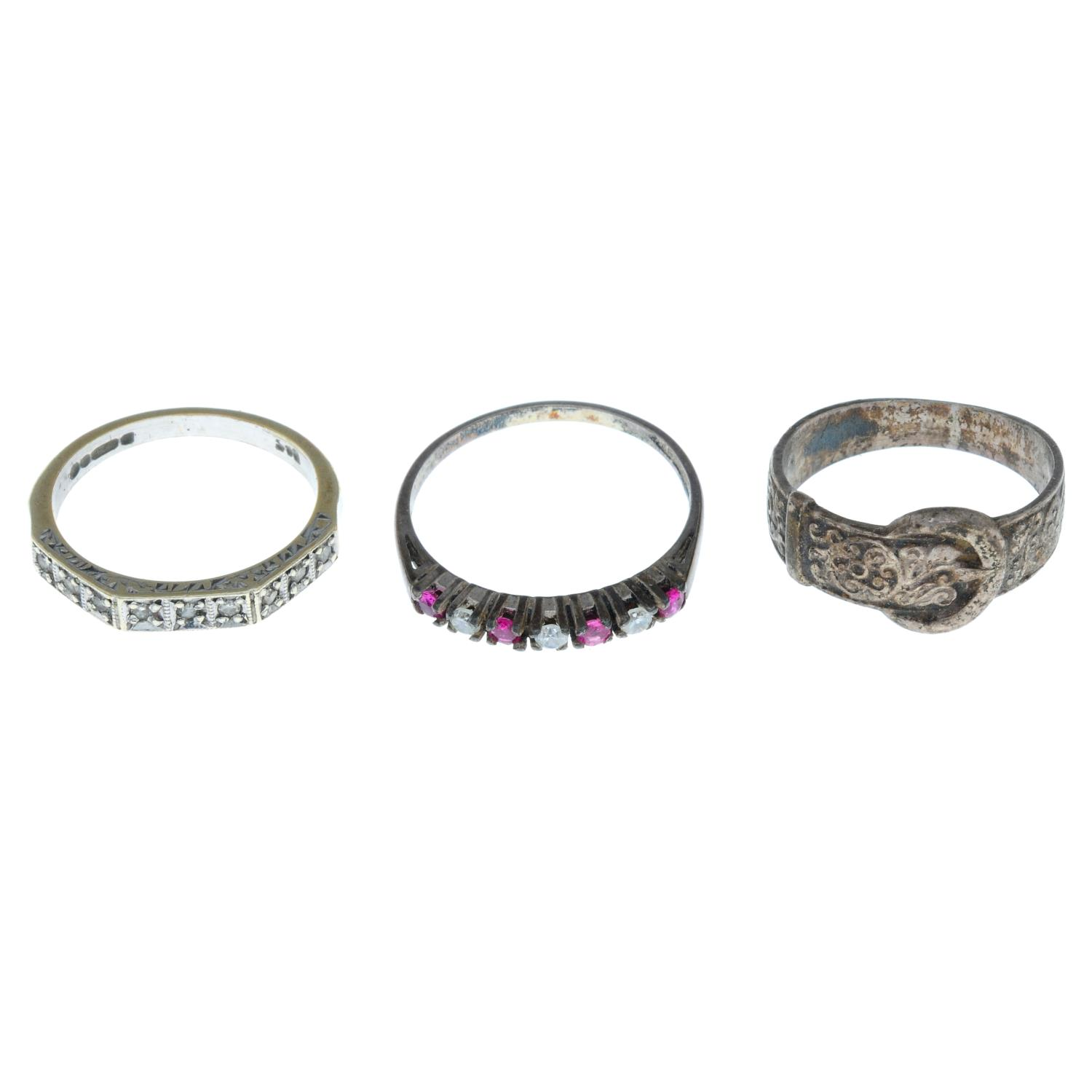 Fourteen early 20th century and later rings, - Image 4 of 4