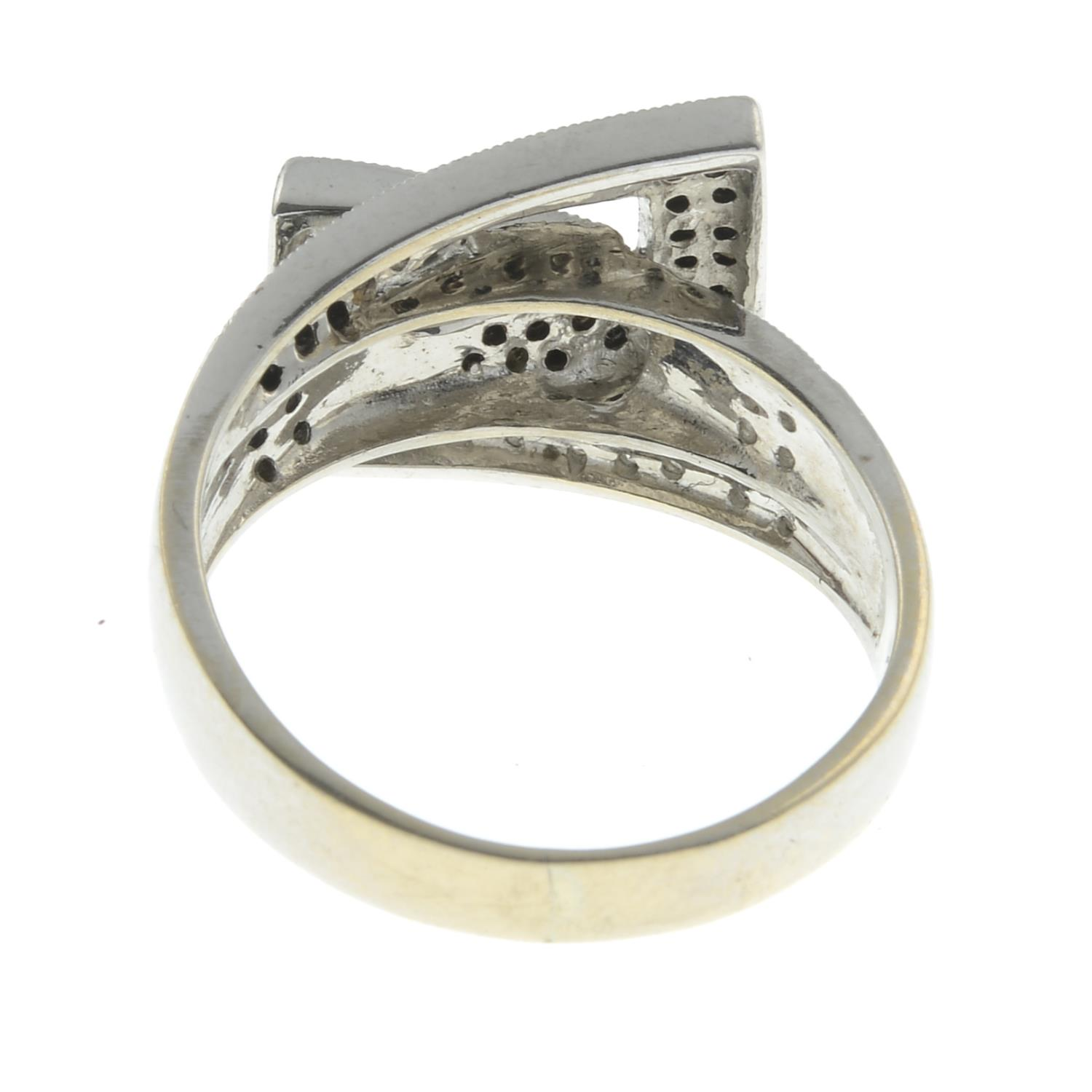 An 18ct gold diamond dress ring.Estimated total diamond weight 0.15cts.Hallmarks indistinct, - Image 2 of 2