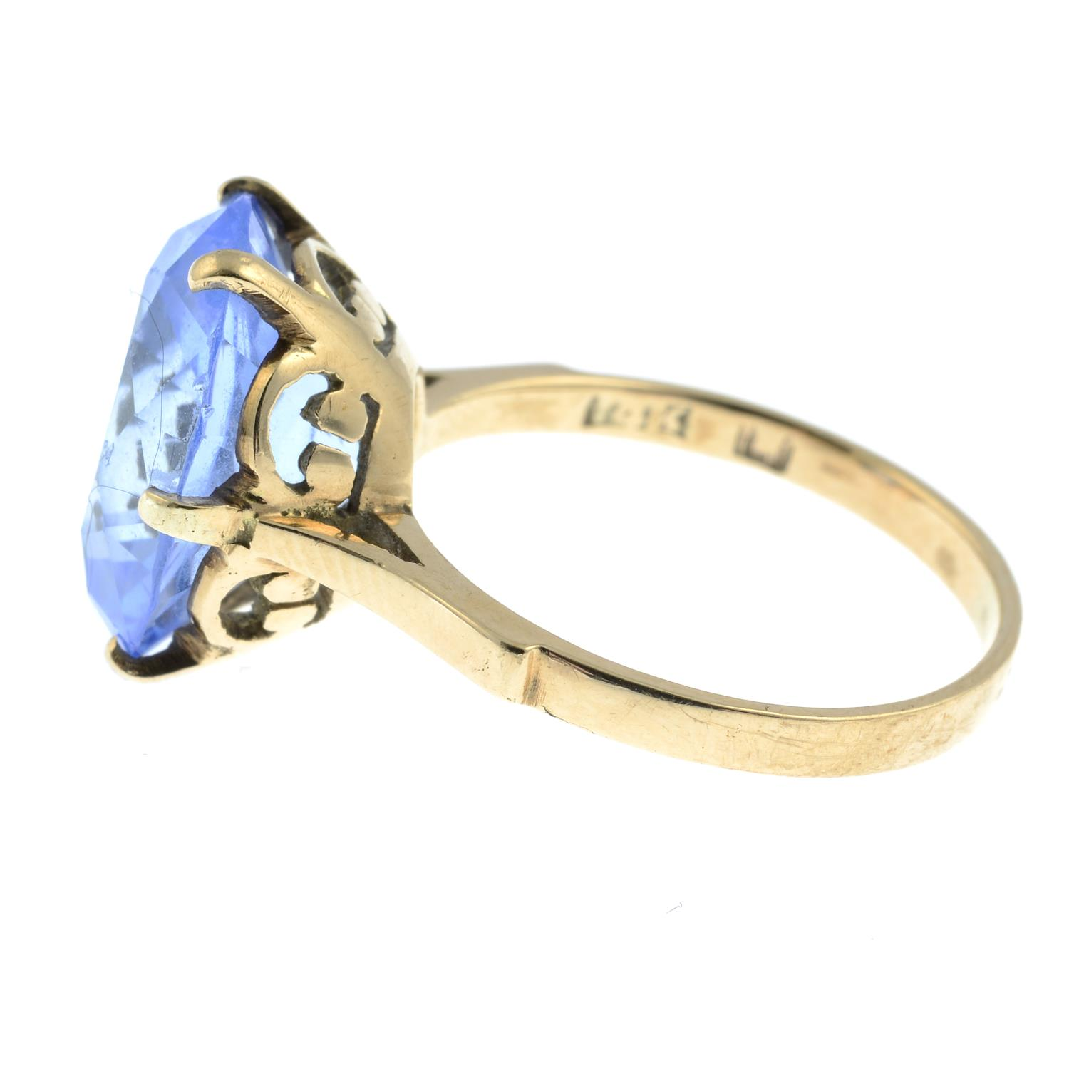 A topaz single-stone ring.Stamped 14K. - Image 2 of 3