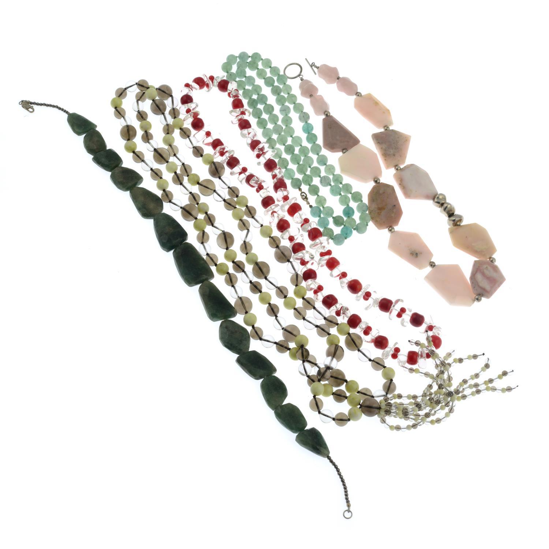 A pair of diamond stud earrings, - Image 2 of 2