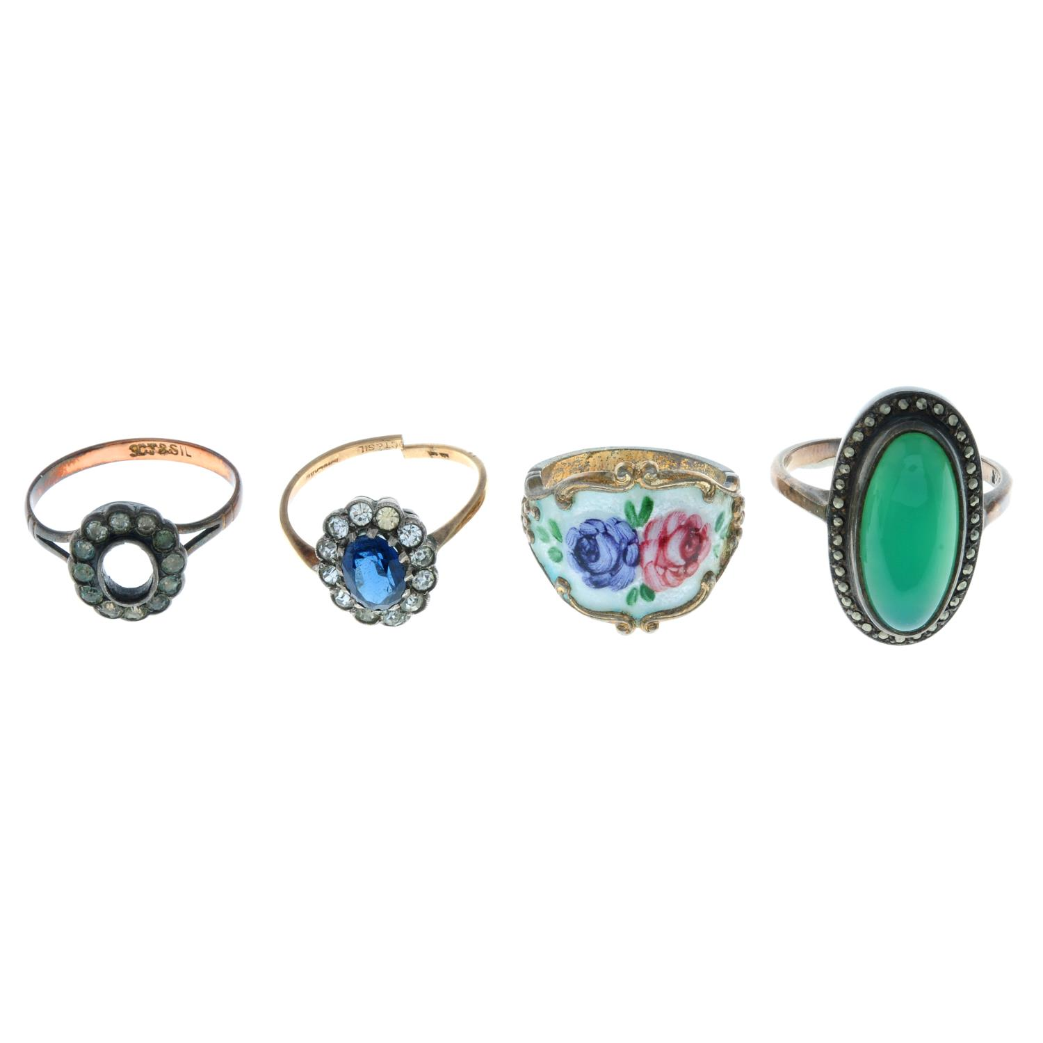 Fourteen early 20th century and later rings, - Image 3 of 4