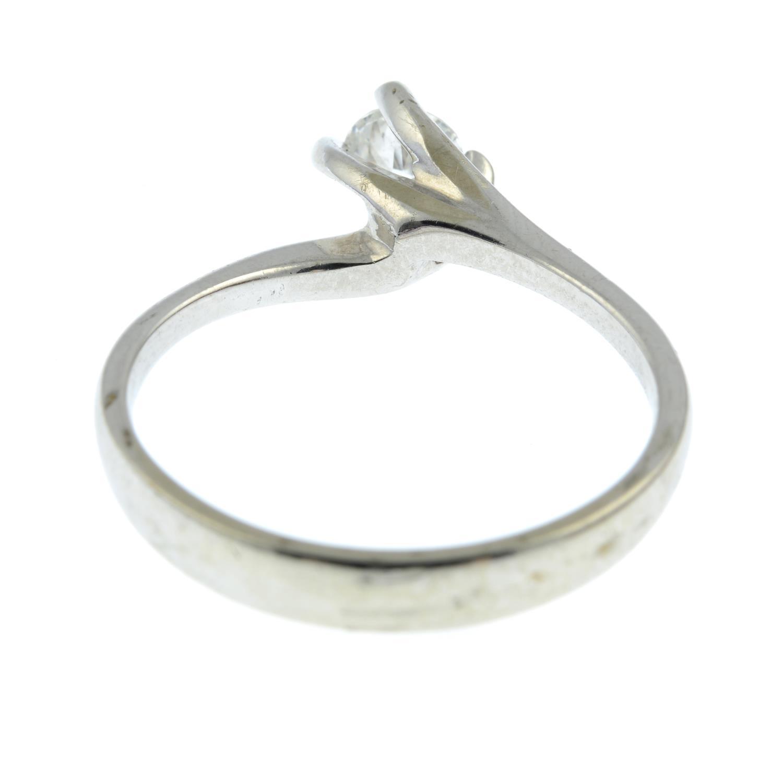 An 18ct gold diamond single-stone ring.Estimated diamond weight 0.33cts, - Image 3 of 3