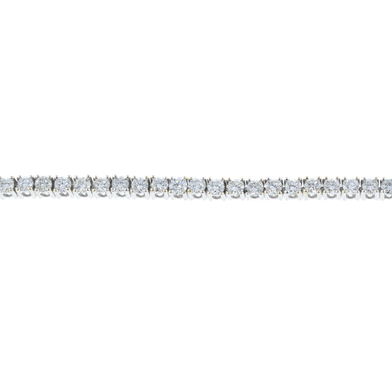 A brilliant-cut diamond line bracelet. - Image 2 of 4