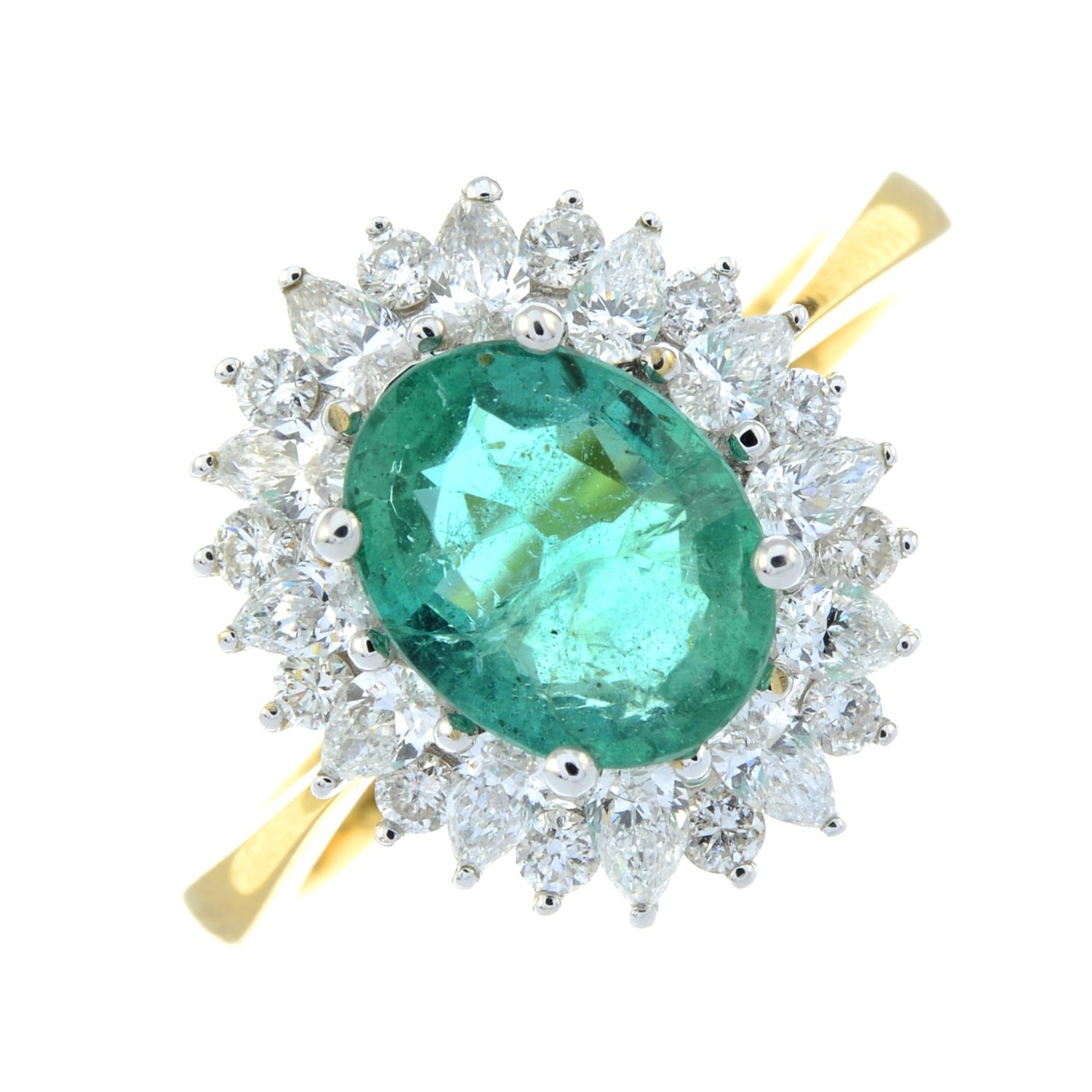 An 18ct gold emerald ring, - Image 2 of 6