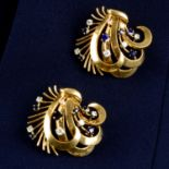 A pair of mid 20th century gold,