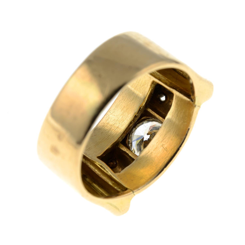 A mid 20th century 18ct gold and platinum diamond dress ring.Principal diamond estimated weight - Image 4 of 6