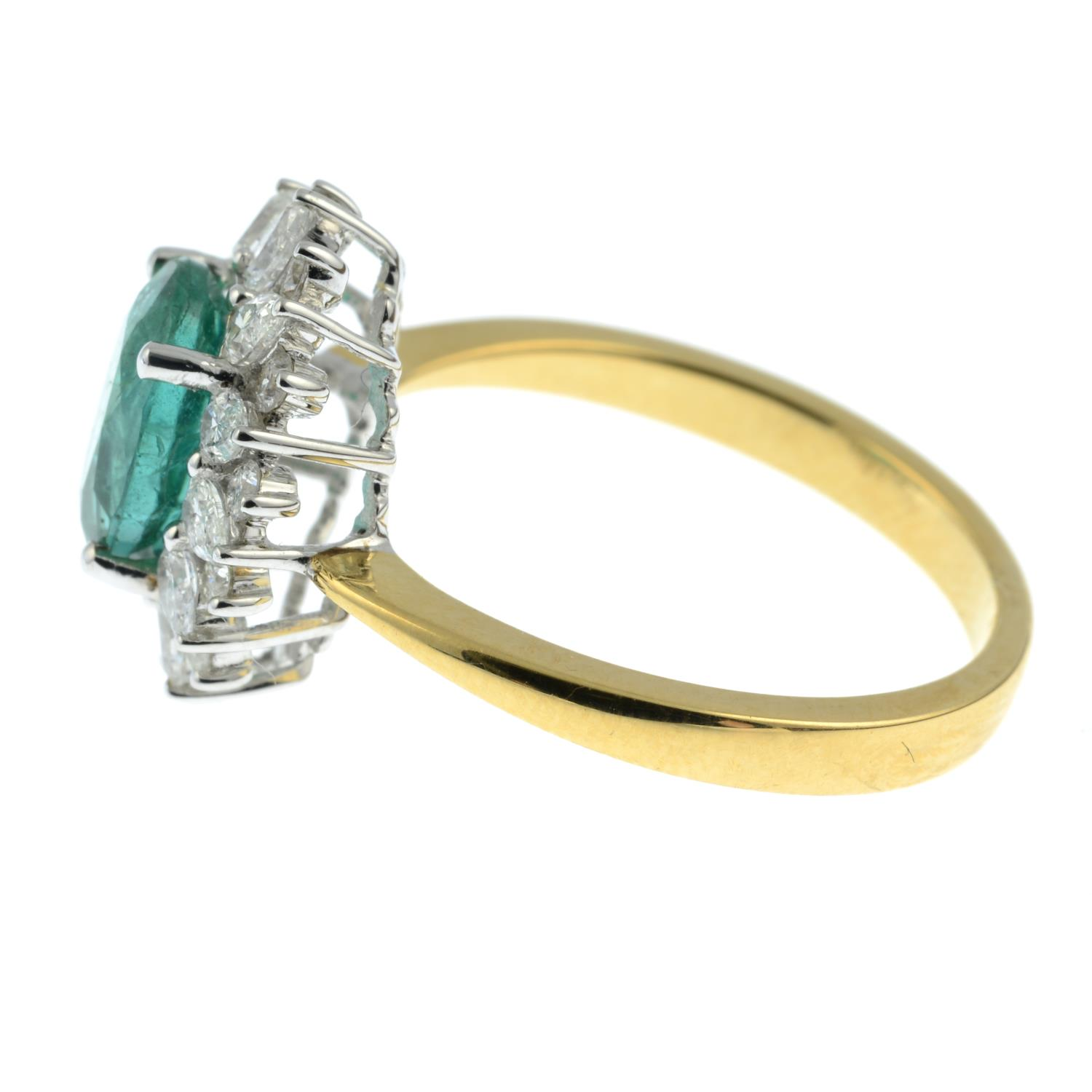An 18ct gold emerald ring, - Image 4 of 6