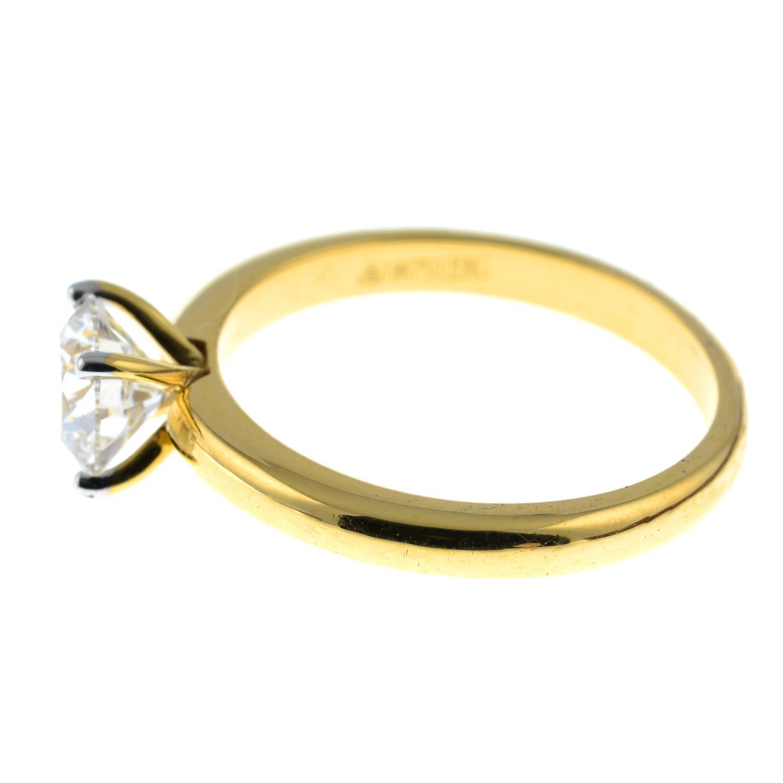 A brilliant-cut diamond single-stone ring.Diamond weight 1.01cts, estimated G+ colour, VS clarity. - Image 4 of 6