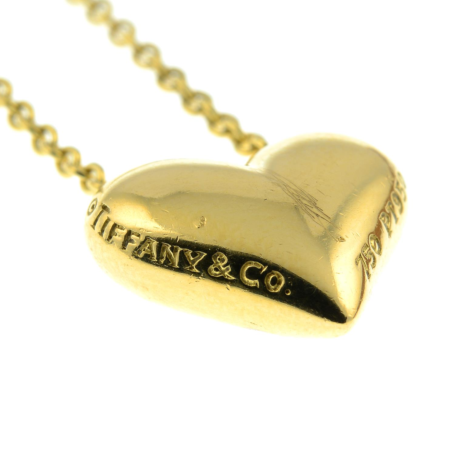 A diamond 'Etoile' heart pendant, on chain, by Tiffany & Co. - Image 4 of 6