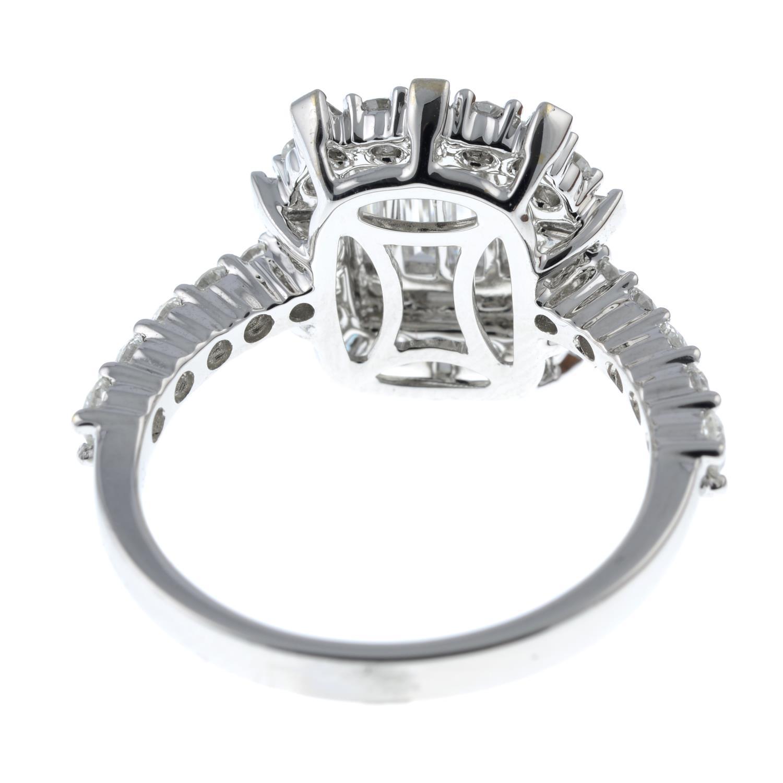 A vari-cut diamond cluster ring. - Image 5 of 6
