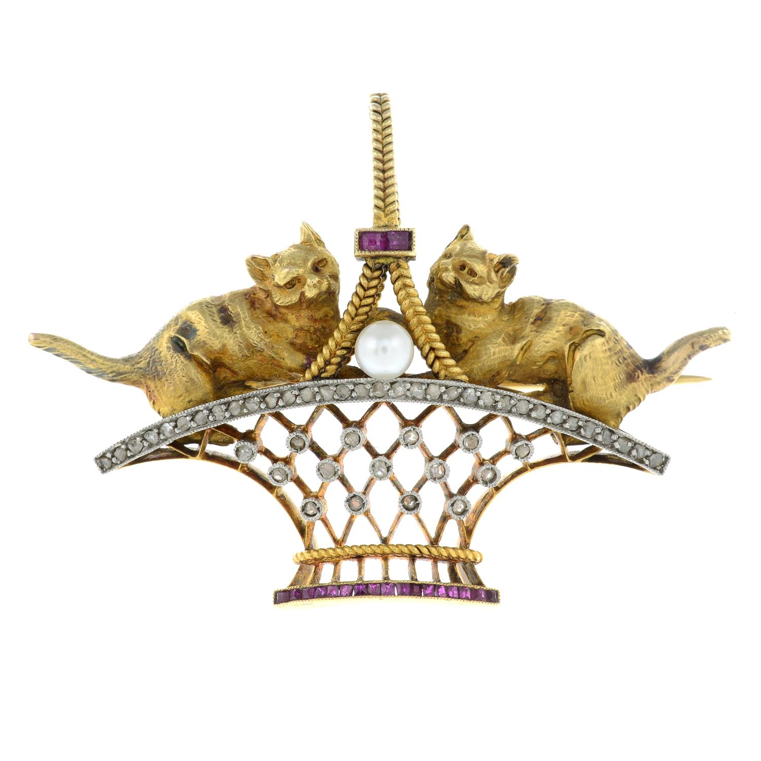 An early 20th century 18ct gold and platinum, - Image 2 of 4