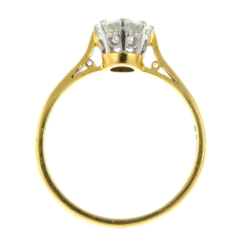 An 18ct gold brilliant-cut diamond single-stone ring.Diamond estimated weight 1.30cts, - Image 6 of 6