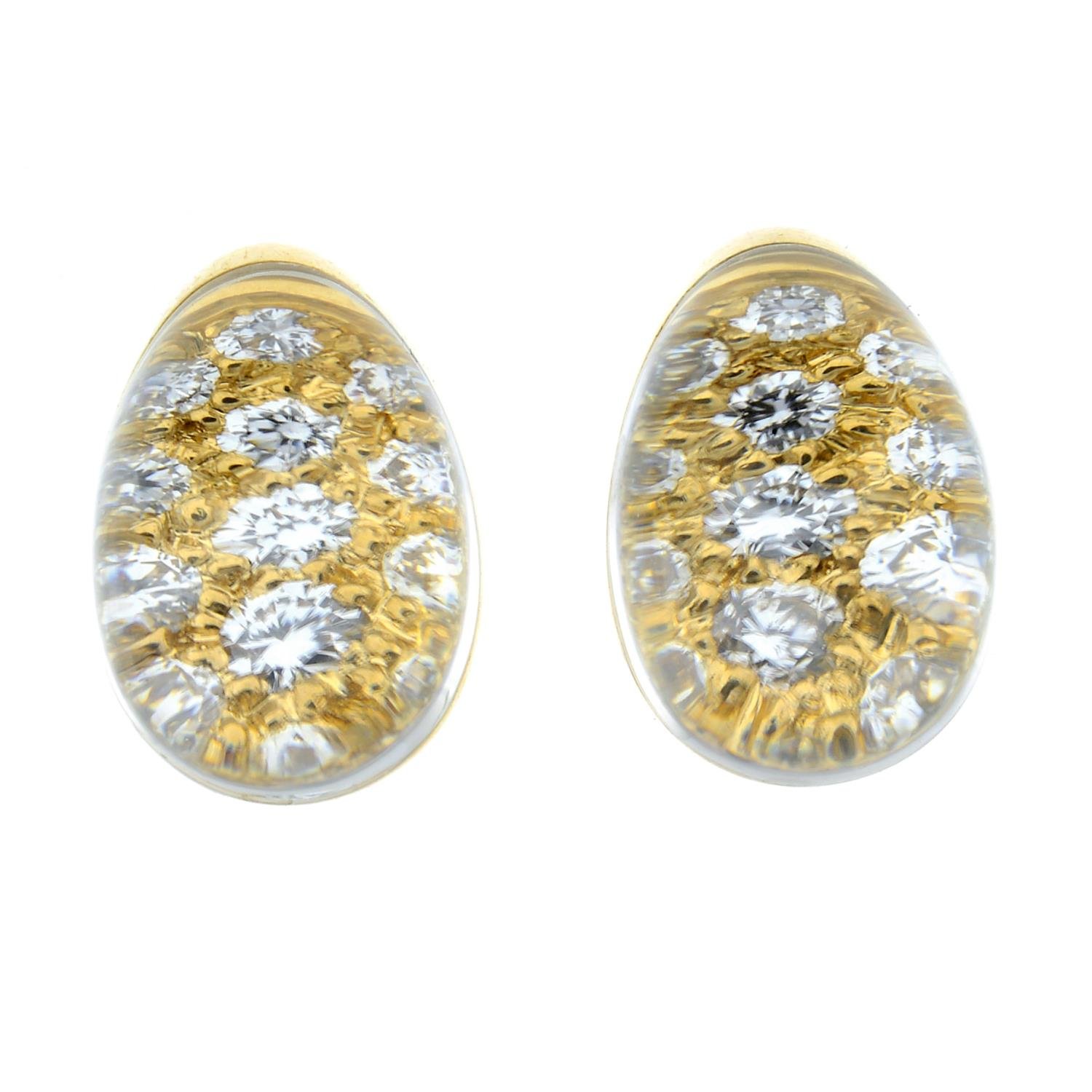 A pair of diamond and rock crystal 'Myst' earrings, by Cartier.Stamped 750. - Image 2 of 4