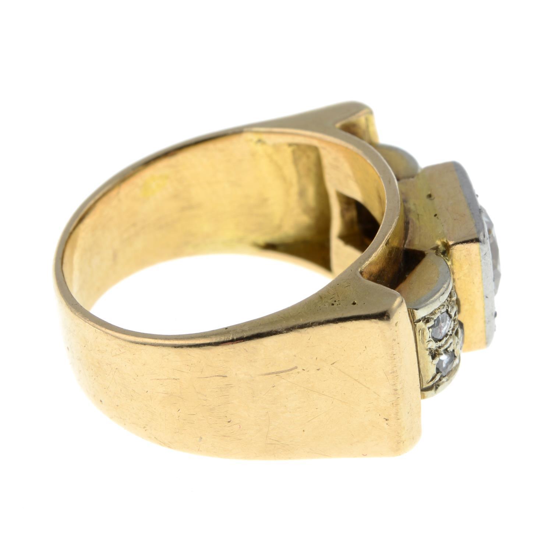 A mid 20th century 18ct gold and platinum diamond dress ring.Principal diamond estimated weight - Image 6 of 6