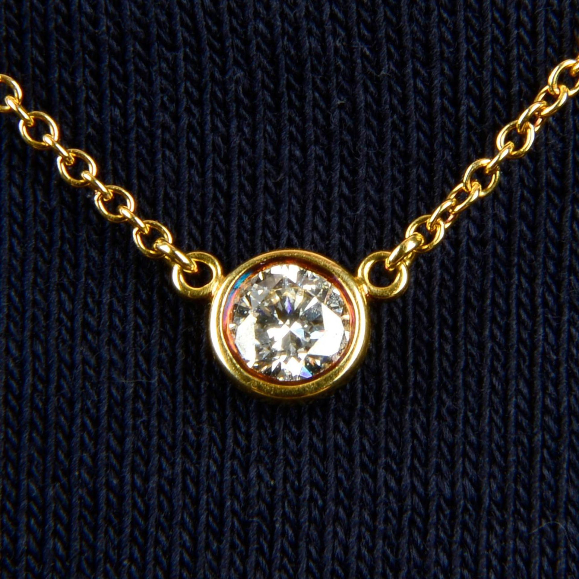 A 'Diamonds by the Yard' necklace,