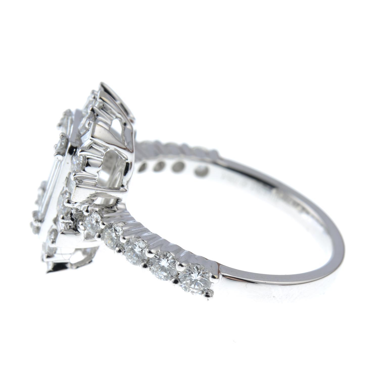 A vari-cut diamond cluster ring. - Image 4 of 6