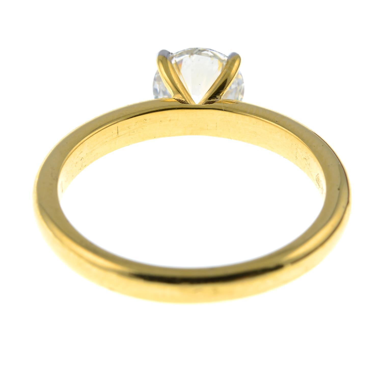 A brilliant-cut diamond single-stone ring.Diamond weight 1.01cts, estimated G+ colour, VS clarity. - Image 5 of 6
