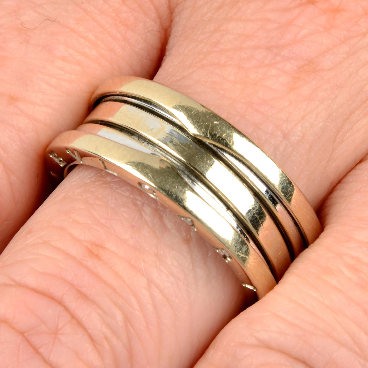 An 18ct gold 'B.Zero1' ring, by Bulgari.Hallmarks for Sheffield.Ring size R.
