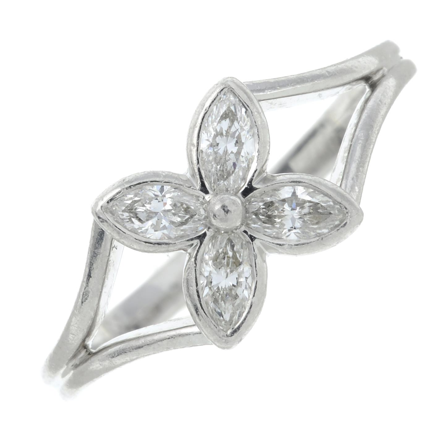 A diamond floral 'Victoria' ring, - Image 2 of 6