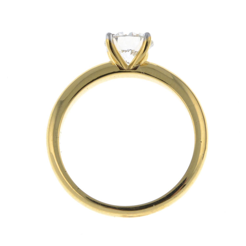 A brilliant-cut diamond single-stone ring.Diamond weight 1.01cts, estimated G+ colour, VS clarity. - Image 6 of 6