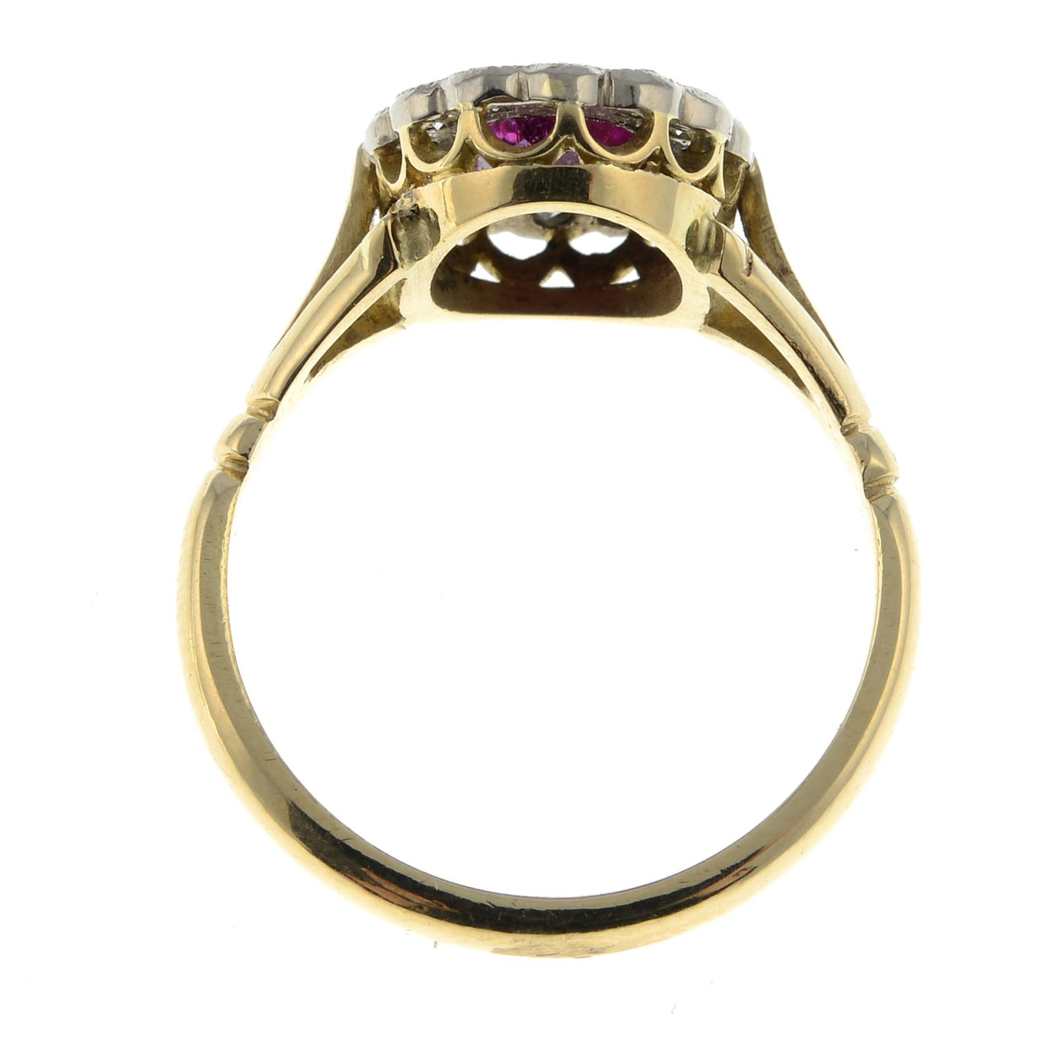 A Burmese ruby and diamond cluster ring.With report 81314-48, - Image 6 of 7