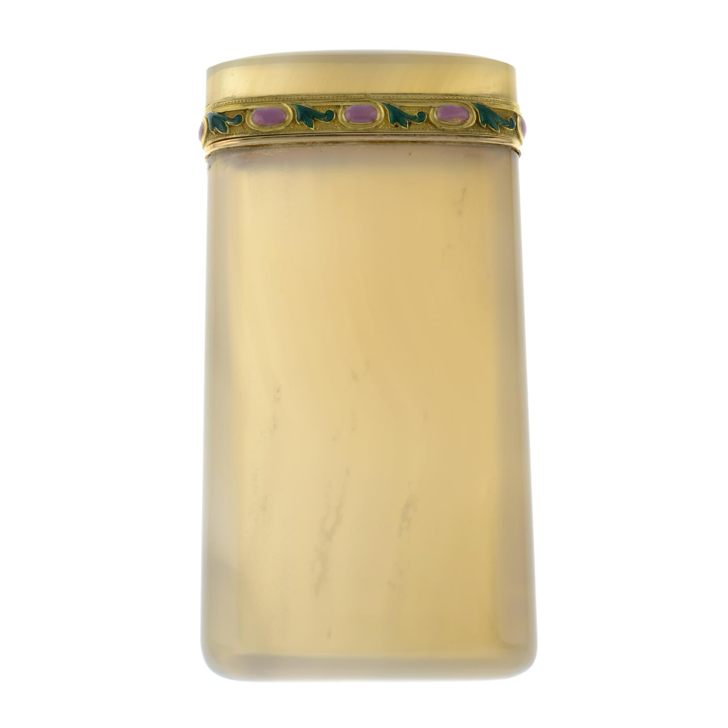 An early 20th century agate cigarette case, - Image 2 of 4