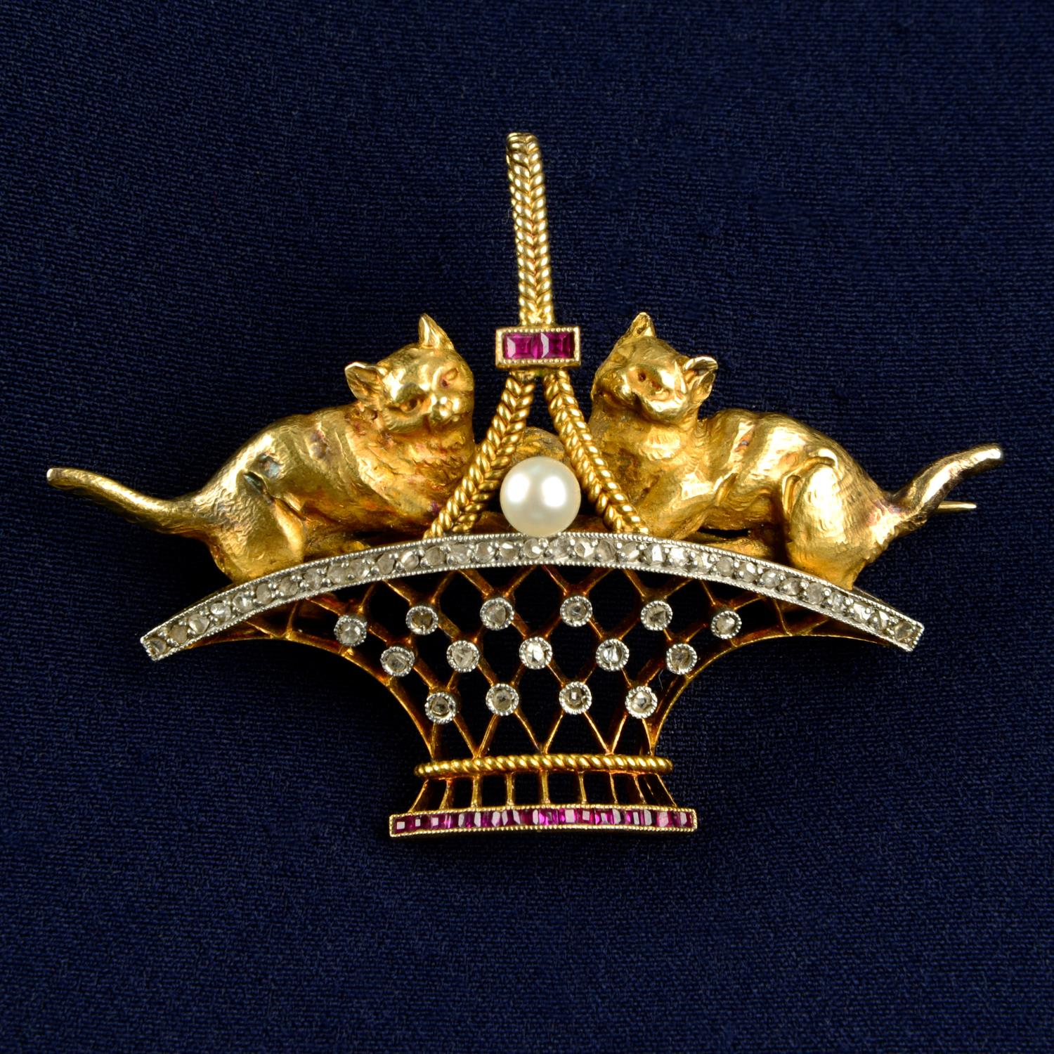 An early 20th century 18ct gold and platinum,