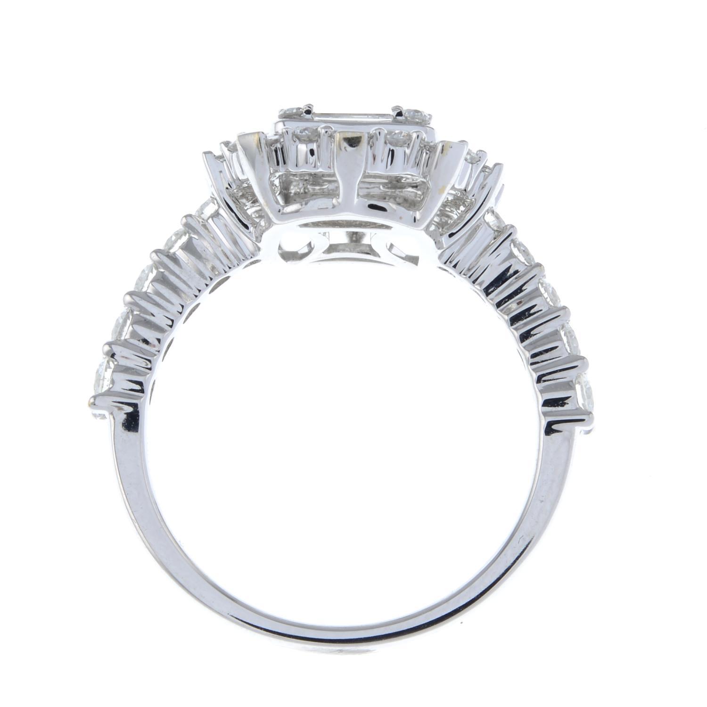 A vari-cut diamond cluster ring. - Image 6 of 6