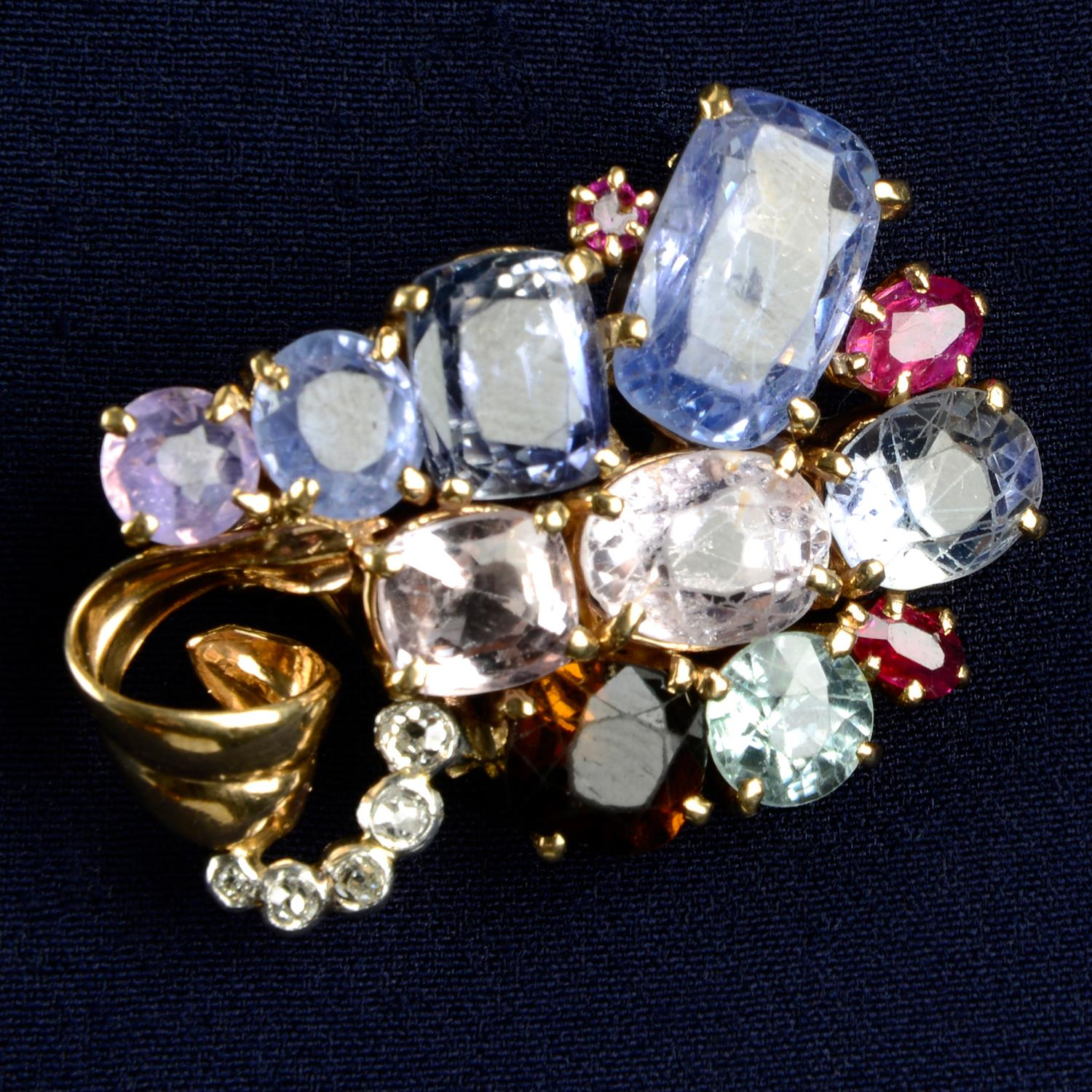 An early to mid 20th century multi-gem set,