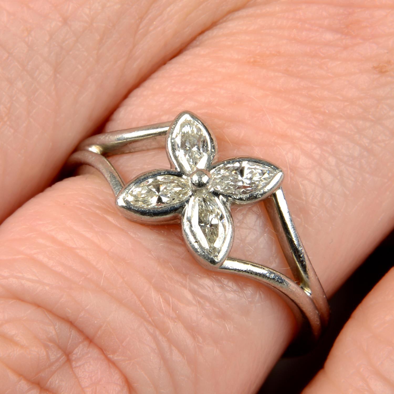 A diamond floral 'Victoria' ring,