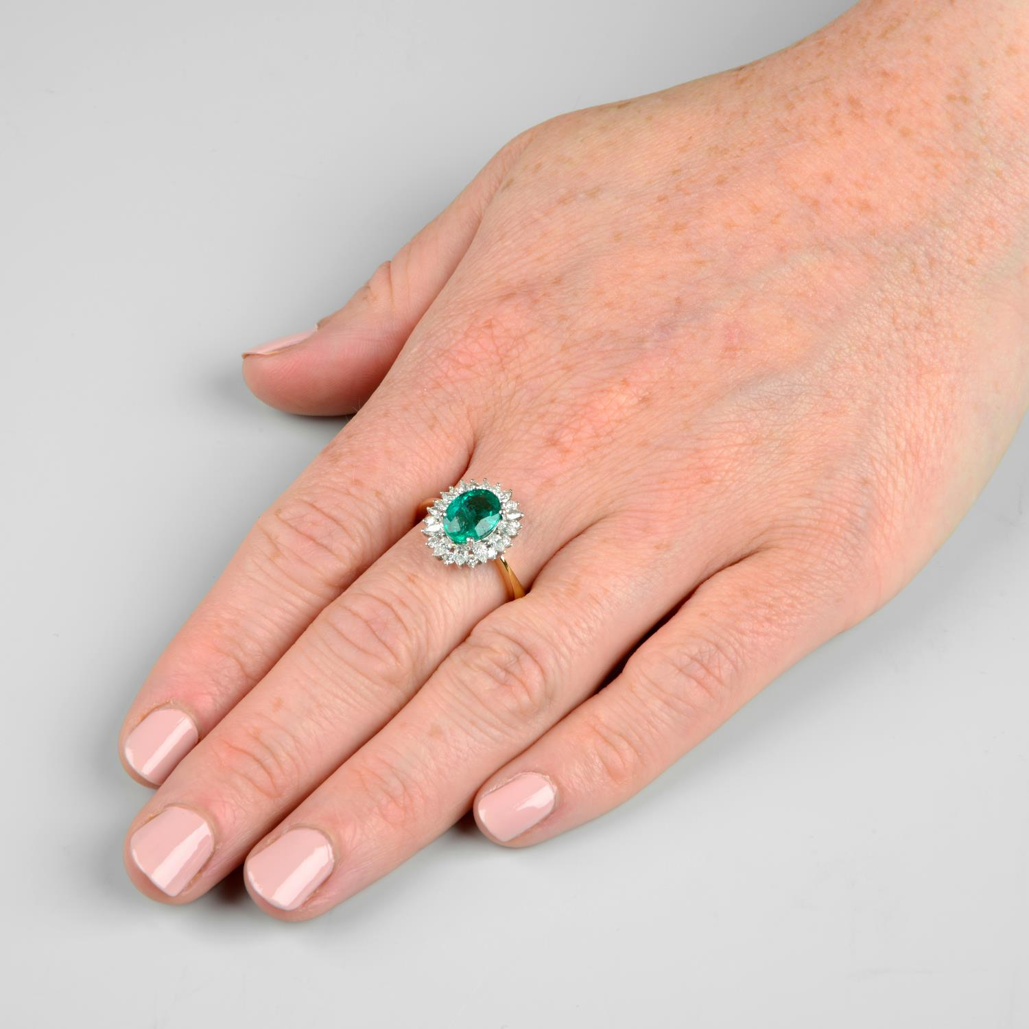 An 18ct gold emerald ring, - Image 3 of 6