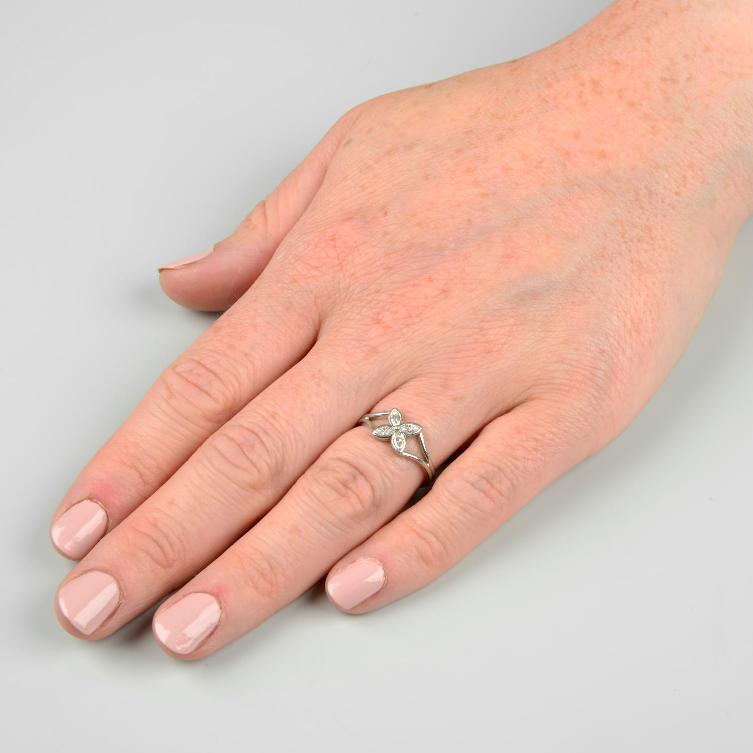 A diamond floral 'Victoria' ring, - Image 3 of 6