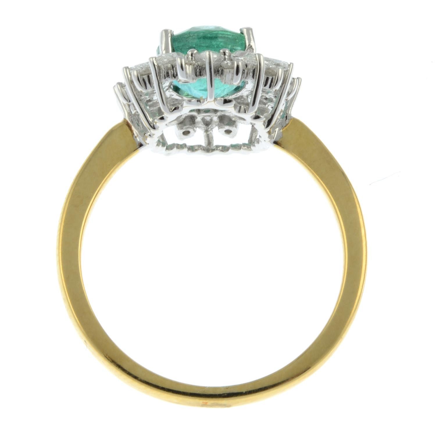 An 18ct gold emerald ring, - Image 6 of 6