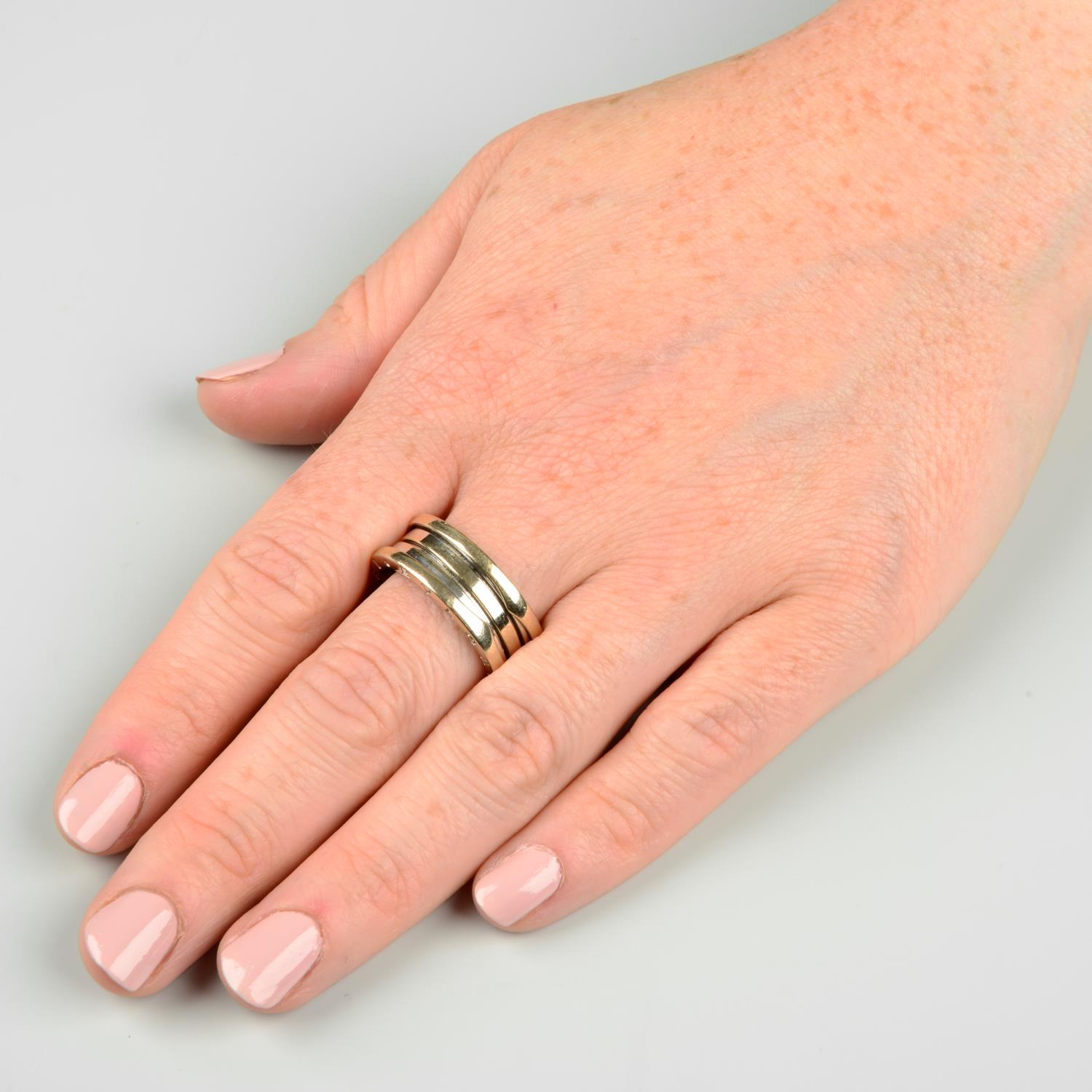 An 18ct gold 'B.Zero1' ring, by Bulgari.Hallmarks for Sheffield.Ring size R. - Image 3 of 6