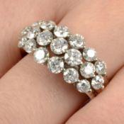 A brilliant-cut diamond dress ring.