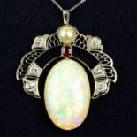 An early 20th century platinum and 15ct gold,