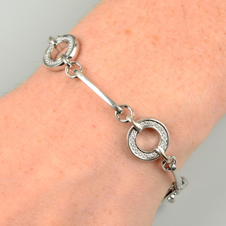 An 18ct gold diamond 'Roulette' bracelet,
