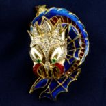 A mid 20th century 18ct gold enamel,
