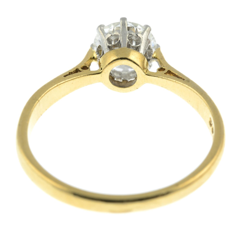 An 18ct gold brilliant-cut diamond single-stone ring.Diamond estimated weight 1.30cts, - Image 5 of 6