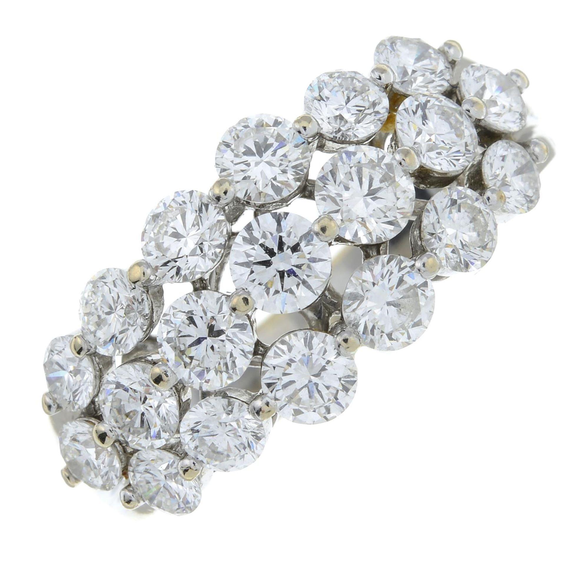 A brilliant-cut diamond dress ring. - Image 2 of 6