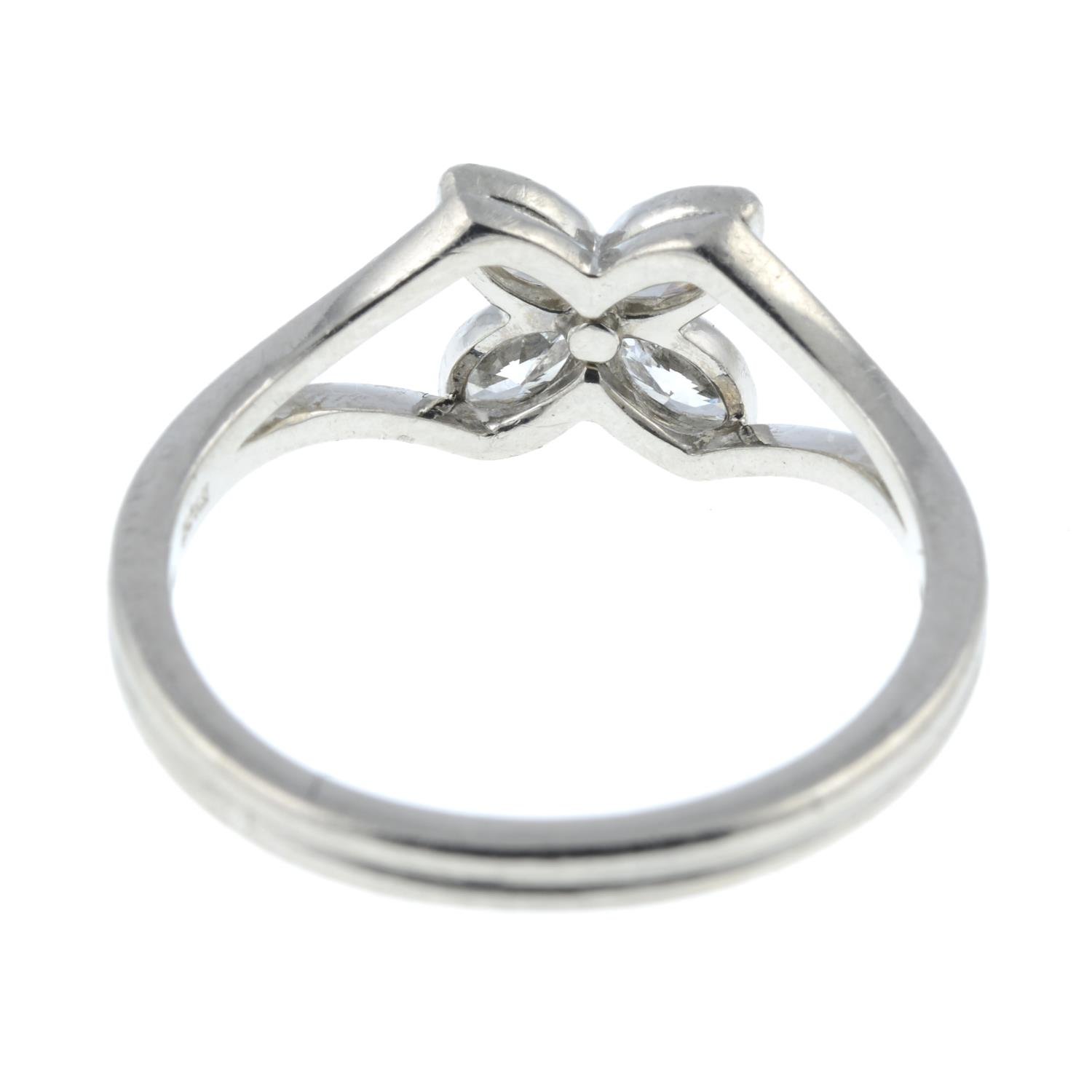 A diamond floral 'Victoria' ring, - Image 5 of 6
