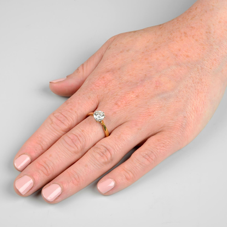 An 18ct gold brilliant-cut diamond single-stone ring.Diamond estimated weight 1.30cts, - Image 3 of 6