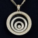 An 18ct gold diamond 'Happy Spirit' pendant,