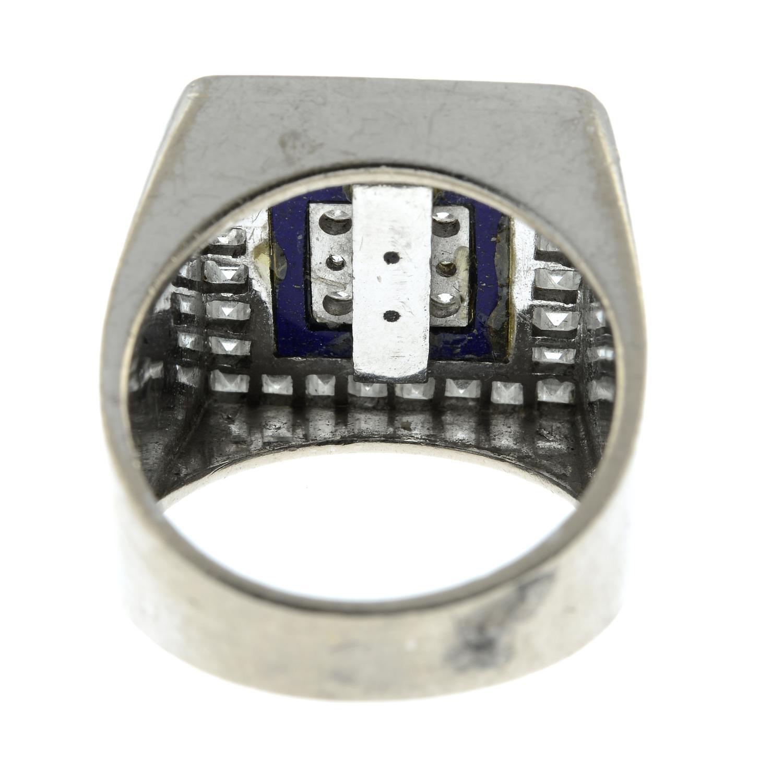 A diamond and lapis lazuli ring, - Image 5 of 7