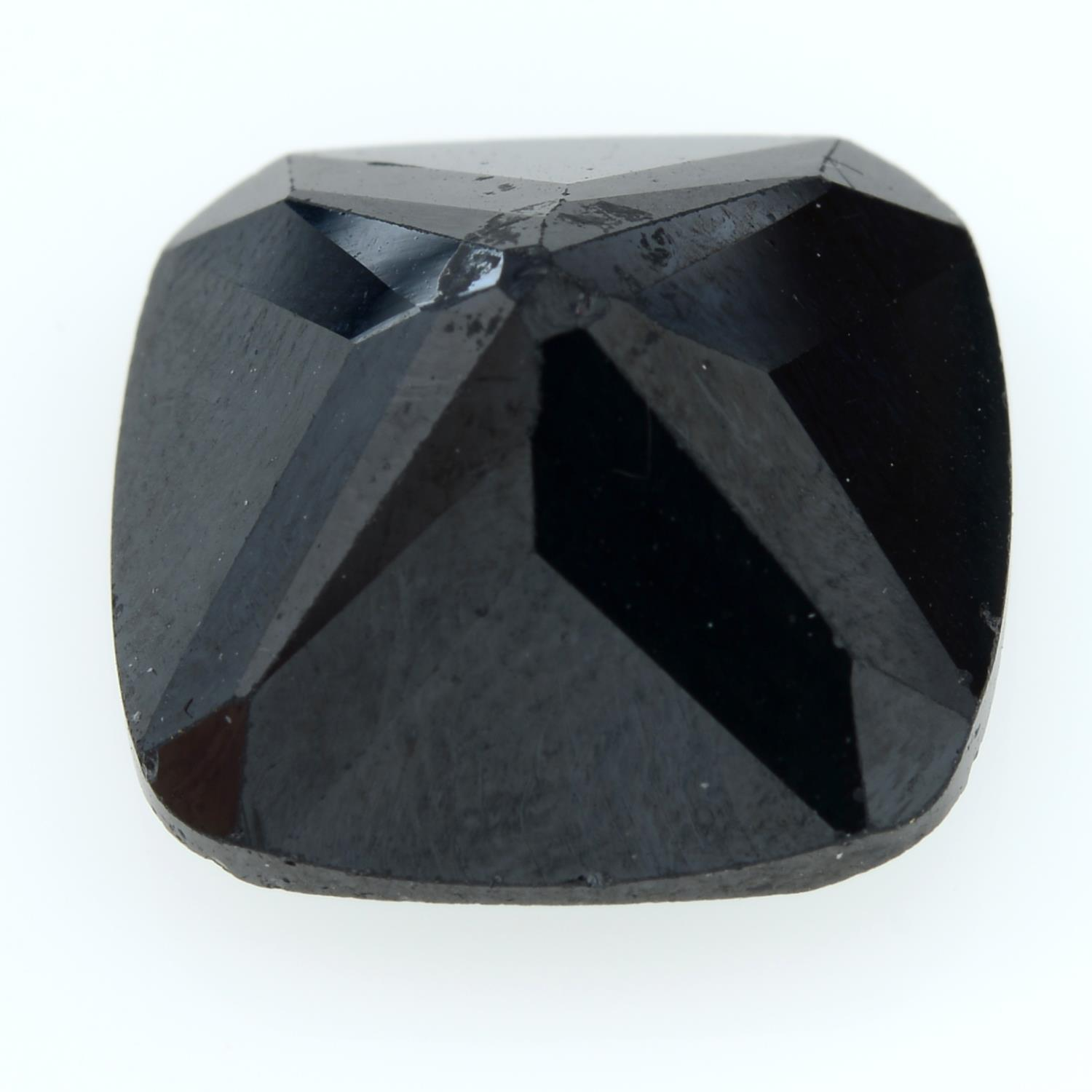 A square-shape sapphire. - Image 2 of 2