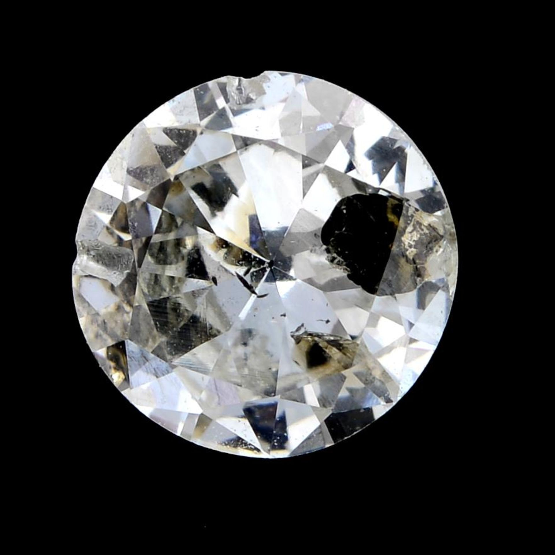 A brilliant cut diamond weighing 1.02cts.