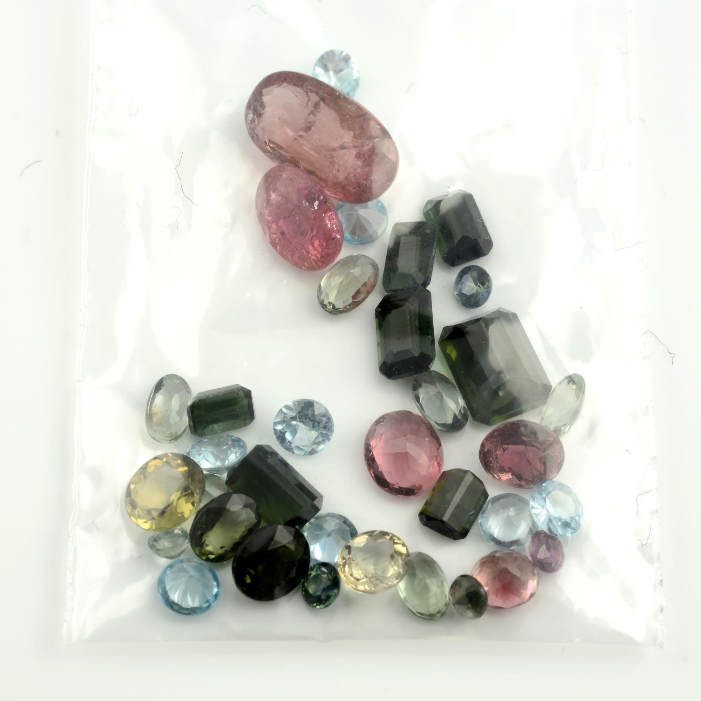 A selection of vari-shape and vari-colour tourmalines. - Image 2 of 2