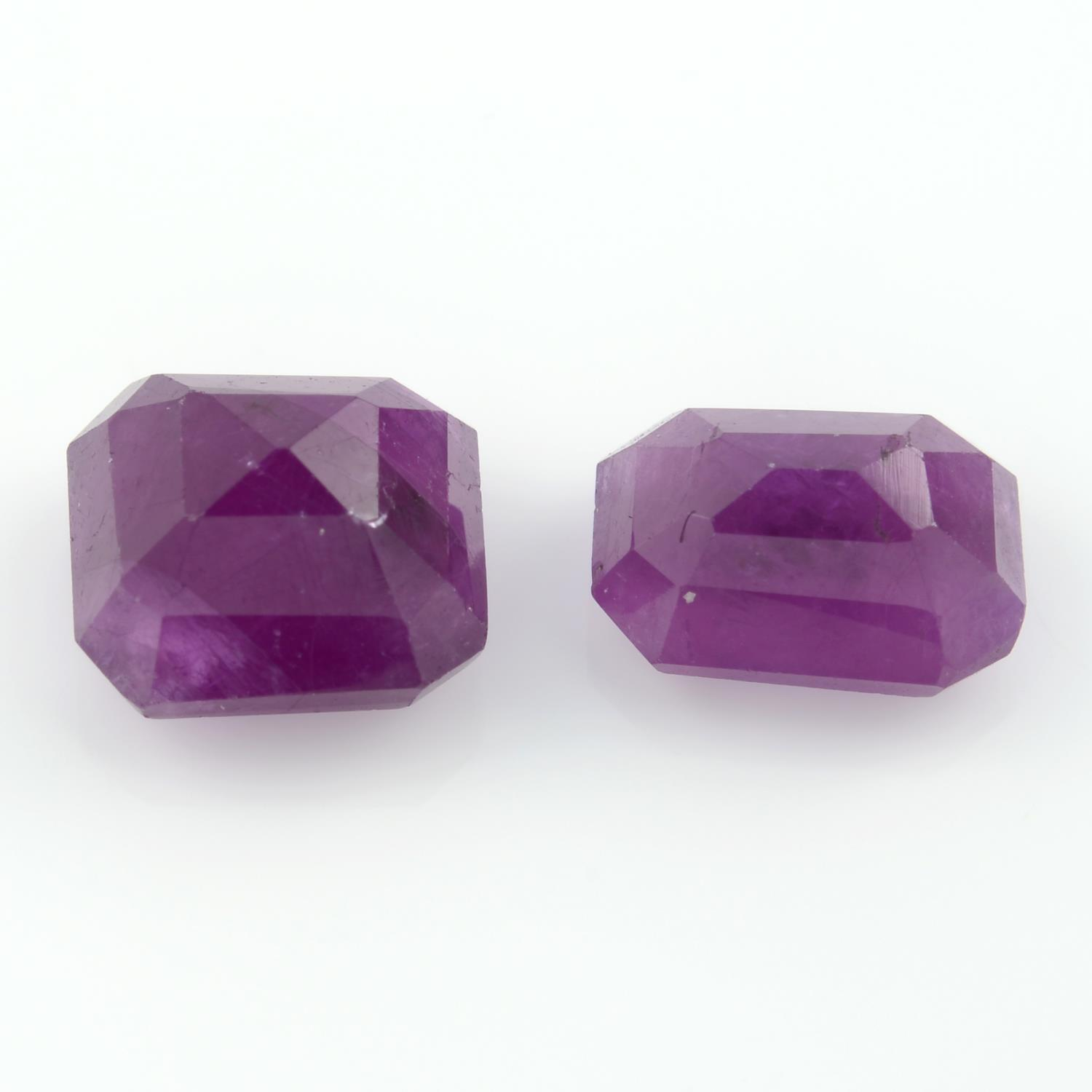 Two unheated rectangular shape rubies, weighing 5.04ct. - Image 2 of 4