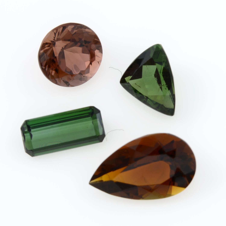 Eight vari-shape tourmalines, - Image 2 of 2