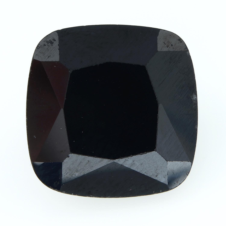 A square-shape sapphire.